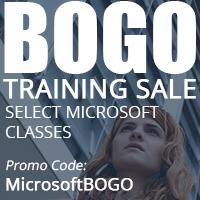 BOGO Training Sale Microsoft Classes